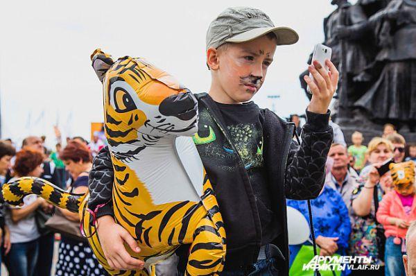 Сэлфи с тигром.