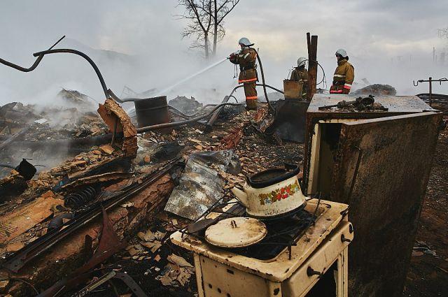 Пожары в Хакасии.
