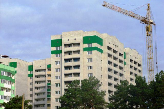 Строящийся дом в микрорайоне «Сосновый бор».