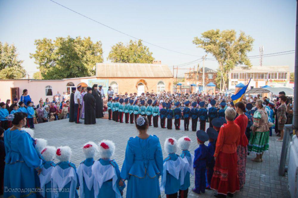 «Посвящение в казачата» состоялось в городе Константиновске  27 сентября 2015 года.