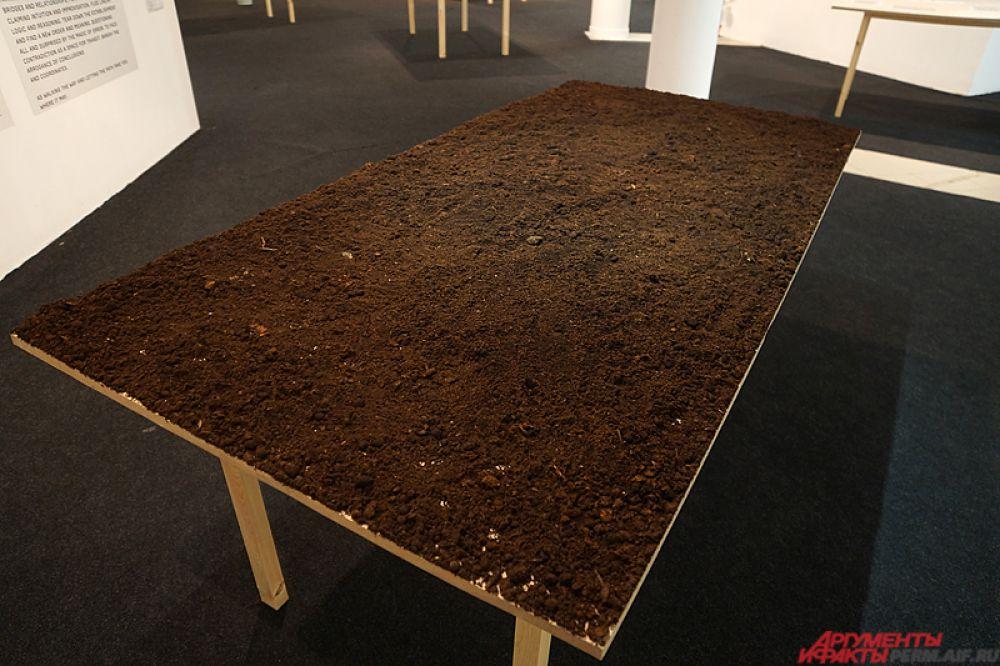 На выставке представлены более 150 графических листов художника, инсталляции из объектов, найденных в Перми, видео, комнатные растения, монументальная графика, специально сделанная для новой экспозиции.