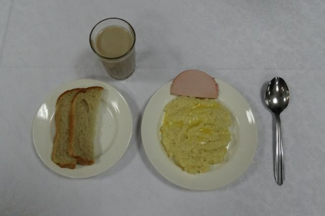 Вариант школьного завтрака за 44 рубля.
