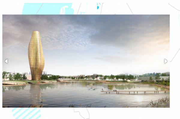 Проект Национальной библиотеки на воде.