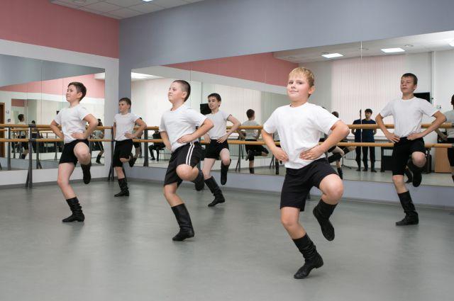 Занятие в новой хореографической школе.