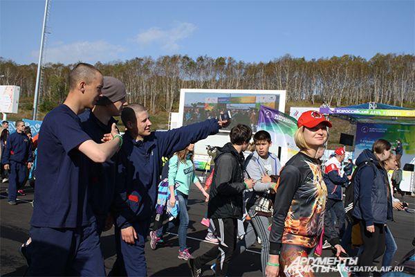 После финиша эстафета по видеосвязи была передана Среднеколымску (Якутия).