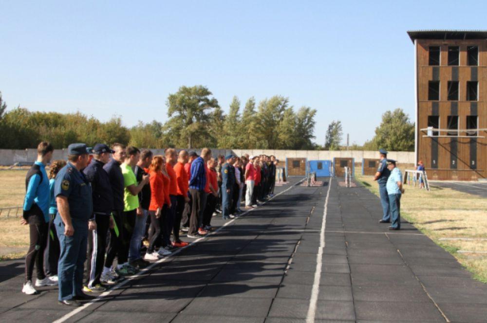 Заключительный этап соревнований по пожарно-прикладному спорту прошёл в Ростове-на-Дону.