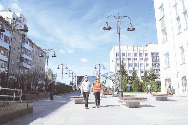 Приятно гулять по одному из наиболее чистых городов России.