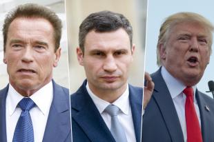 Арнольд Шварценеггер, Виталий Кличко, Дональд Трамп.