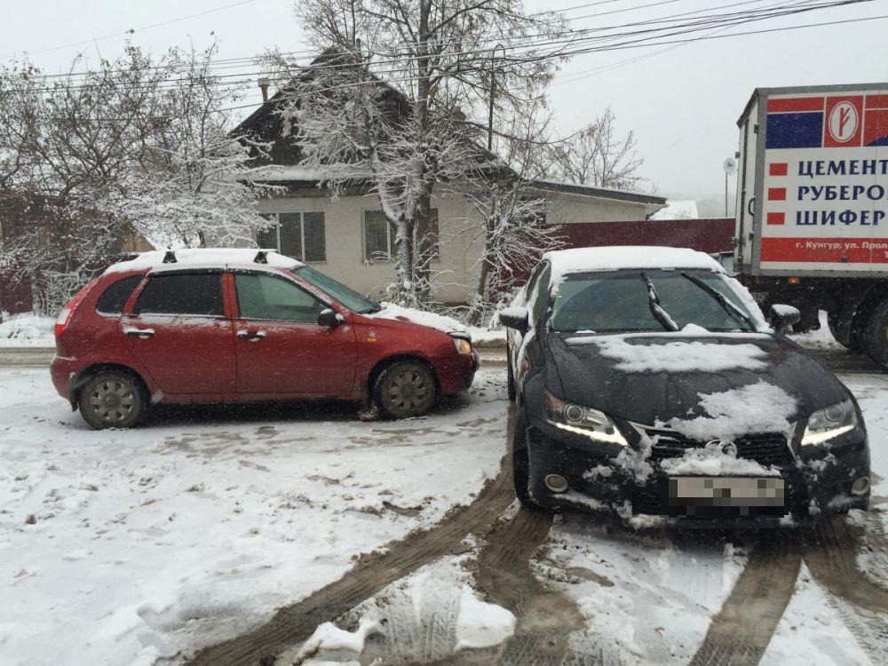 Авария в Кунгуре на ул. Гребнева