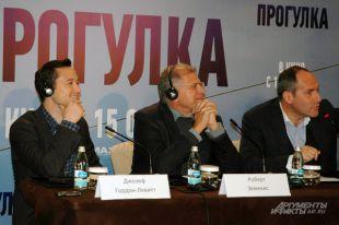 Актёр Джозеф Гордон-Левитт и голливудский режиссёр Роберт Земекис.