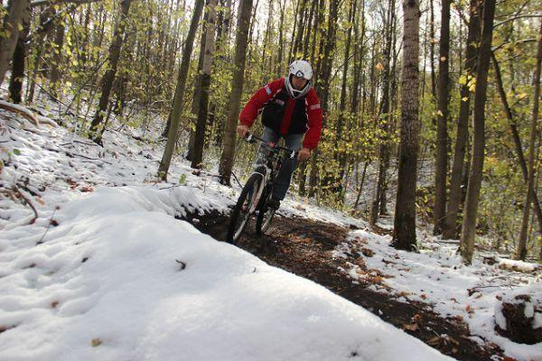 Зимний велоспорт.