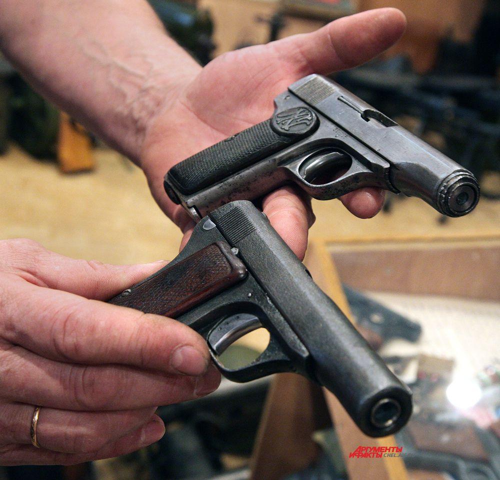 Пистолет браунинг и чешский пистолет