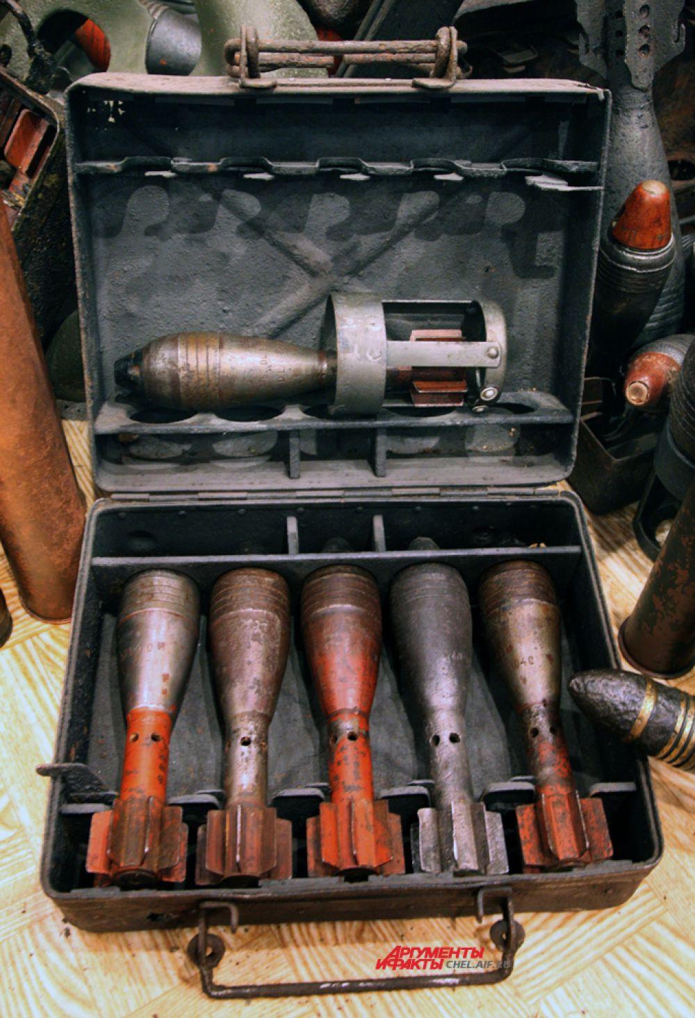 50 мм мины к немецкому миномёту