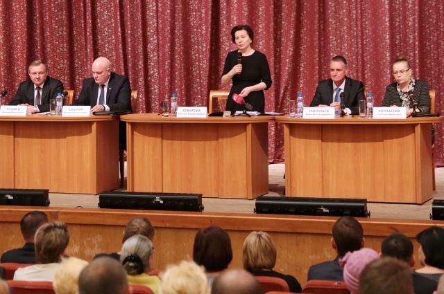 Наталья Комарова встречается с жителями Кондинского района.