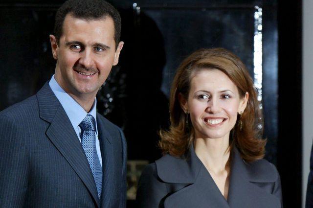 Башар Асад и Асма Асад.