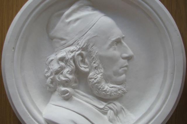 Гипсовая копия рельефа «Эмиль Кауэр» (деда Станислауса Кауэра).