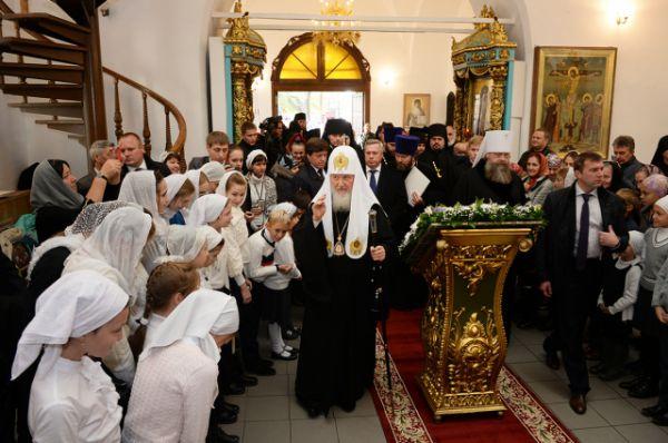 В казачьем форуме принял участие Патриарх Московский и Всея Руси Кирилл.
