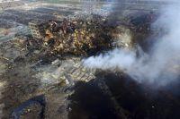 Последствия взрывов в Тяньцзинь.