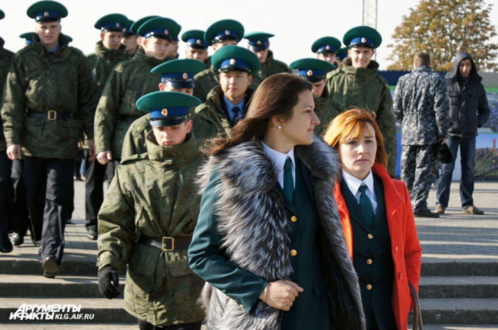 Курсанты Пограничной службы.