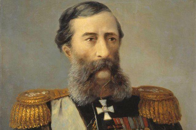 Михаил Лорис-Меликов. Портрет кисти Айвазовского (1888).