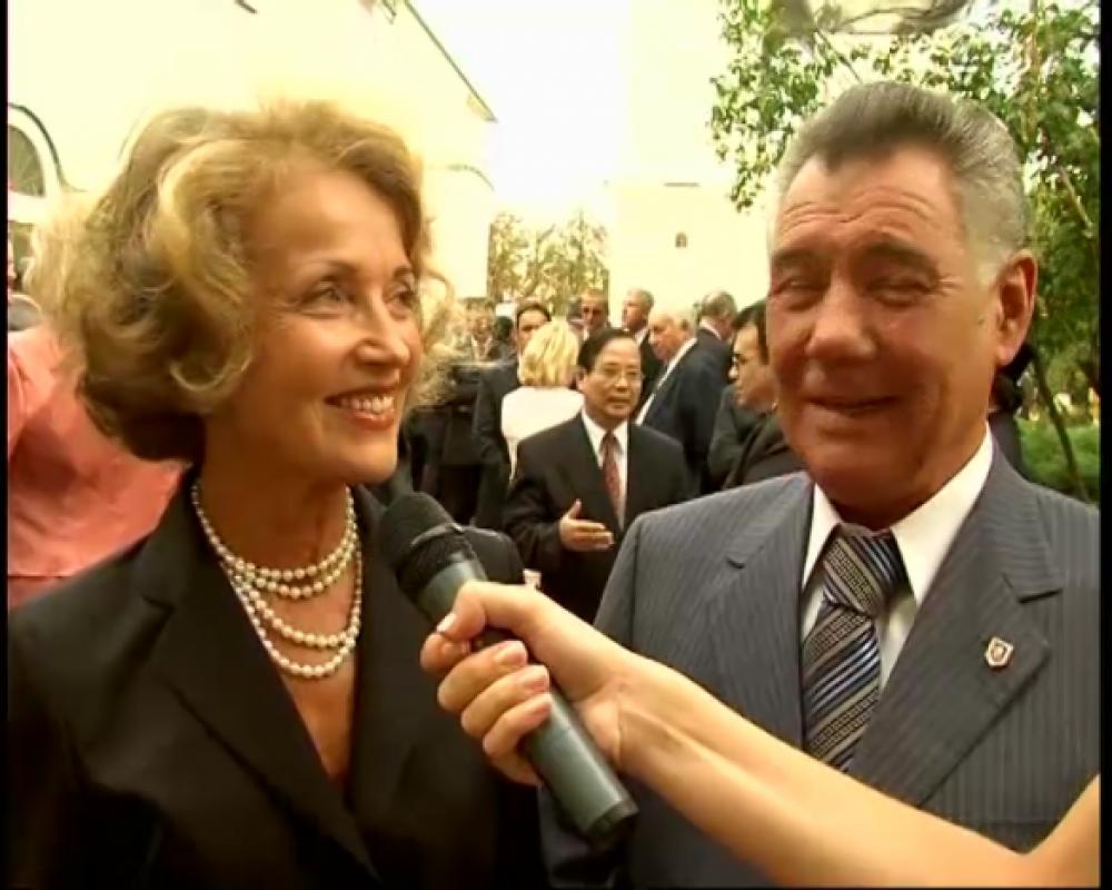 Людмила Омельченко с мужем