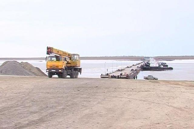 Восстановительные работы на реке Лямин.