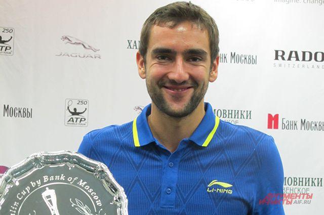 Победитель Кубка Кремля 2014 года, хорват Марин Чилич.