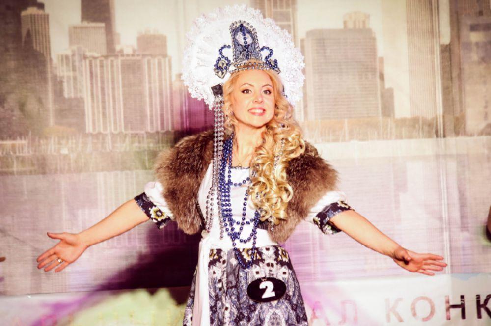 Анастасия Маякина из Иркутска представила лучший национальный костюм.