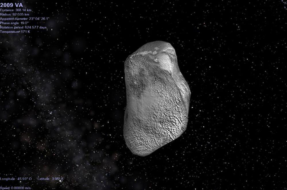 2009 VA. 7-метровый астероид пролел на расстоянии около 14 000 километров от Земли 9 ноября 2009 года, спустя 15 часов после его открытия.