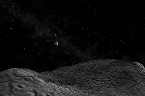 250-метровый астероид 2007 TU24, который 29 января 2008 года сближался с Землей до расстояния в 1,5 раза большего, чем до Луны.