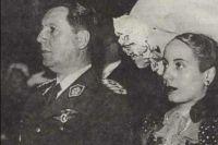 Свадьба Хуана Перона и Эвы Дуарте в 1945 году.