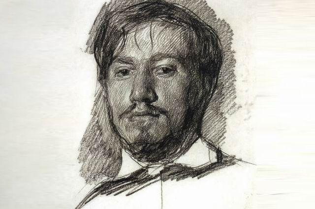 Валентин Серов, автопортрет. 1883 г.