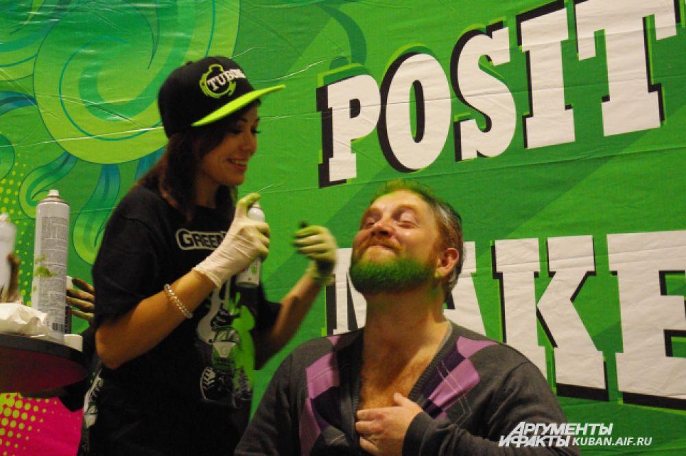 Выкрасить в зеленый цвет можно было и бороду, и бакенбарды, и усы.