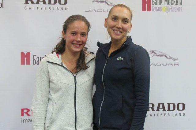 Чемпионки Кубка Кремля в парном женском разряде - Дарья Касаткина и Елена Веснина.