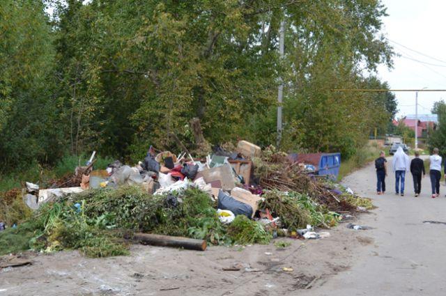 Омичи привыкли к завалам из мусора во дворах и вдоль улиц.