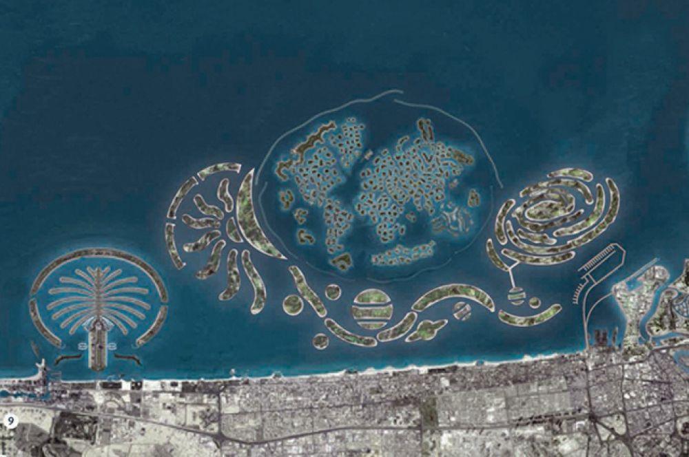 В дальнейшем путем создания новых островов планируется расширить «Мир» до «Вселенной».  На фото: проект строительства.