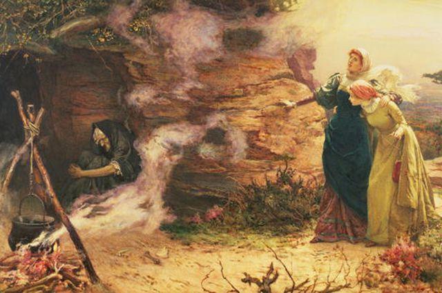 Э. Бревталь. Визит к ведьме. 1882.