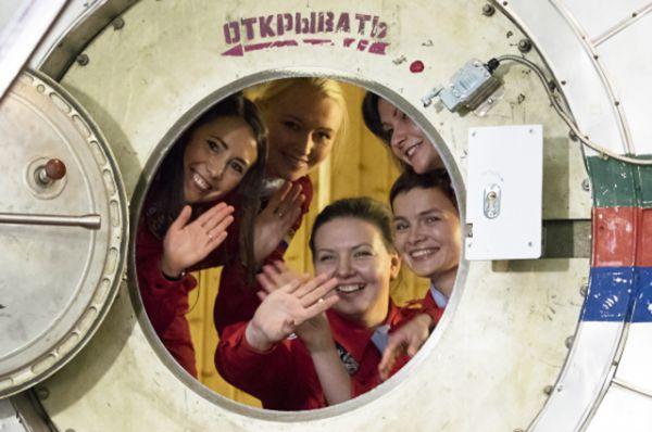 Участницы эксперимента «Луна-2015».