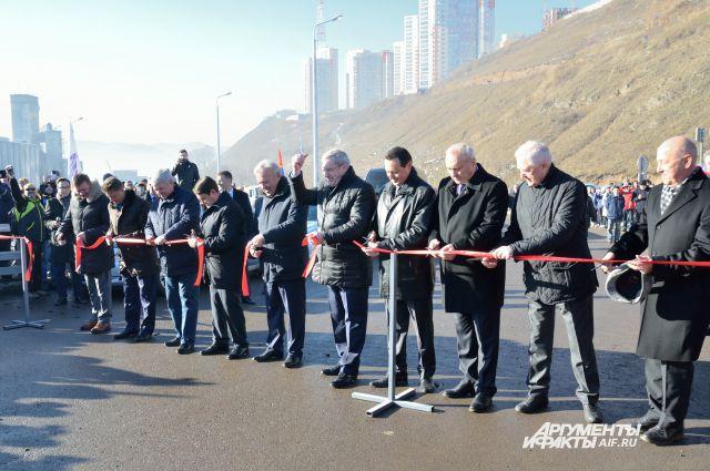 Открытие четвертого моста.