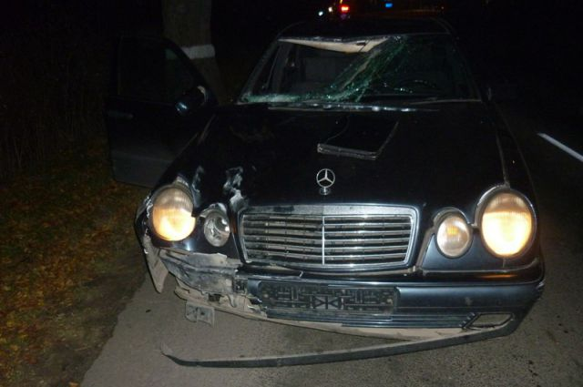 Машина после ДТП.
