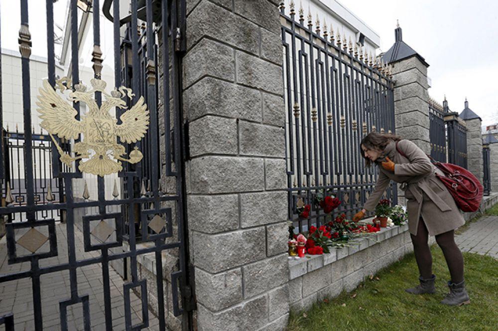 Здание российского посольства в Минске.