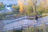 Старая лестница в Нагорный парк.