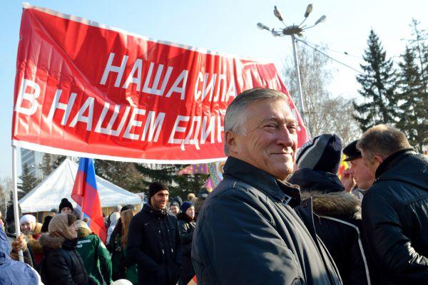 Экс-спикер горсовета Краснорска Валерий Ревкуц тоже празднует 4 ноября.