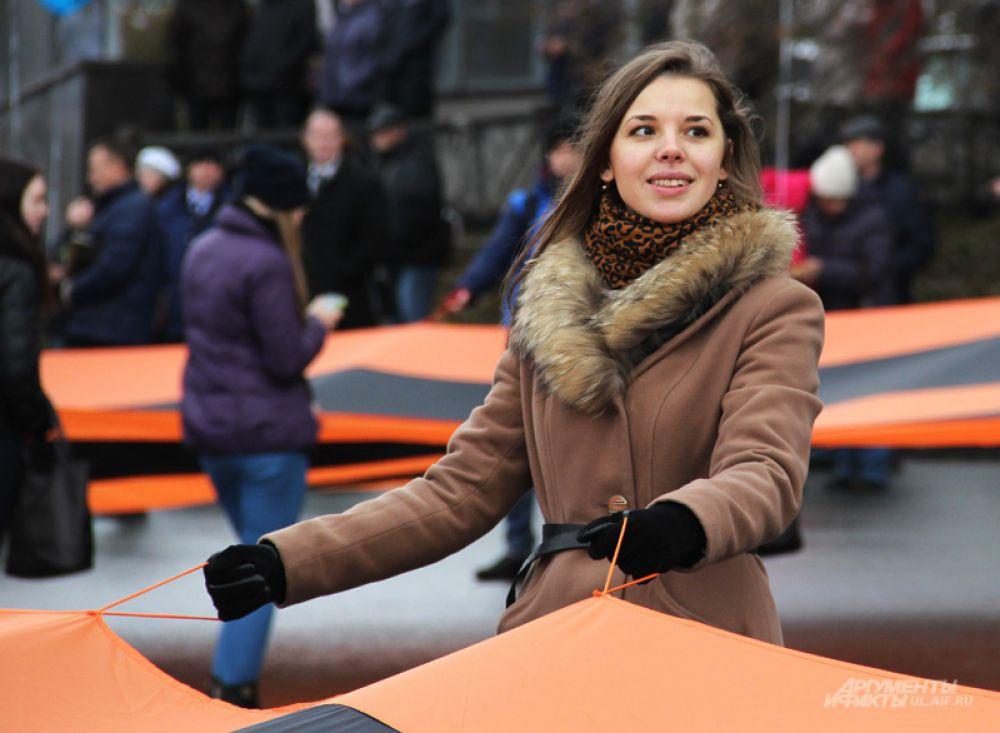 Нести Георгиевские ленты вызвалось ульяновское студенчество