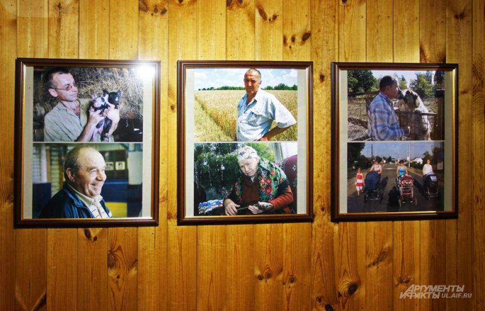 """На выставке, в основном, представлены портреты сельских тружеников,сделанные автором во время работы в """"Крестьянской газете"""""""