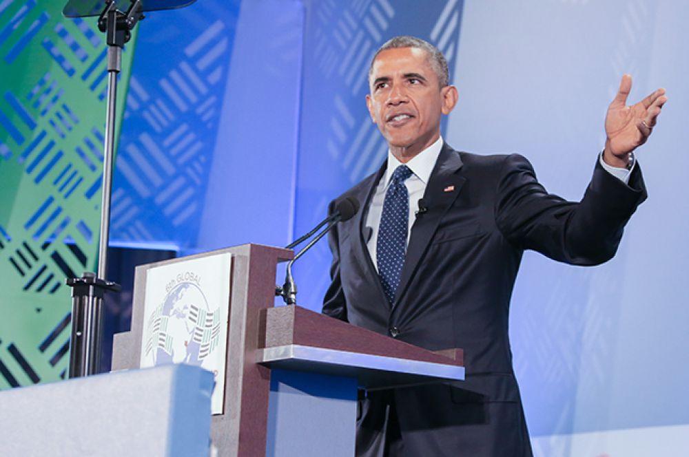 Лидер США Барак Обама переместился со второй на третью позицию.