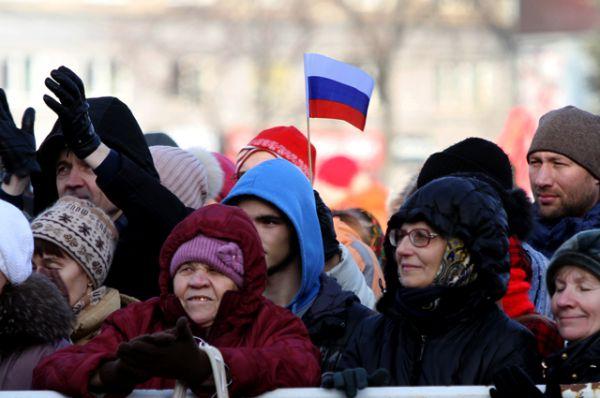 В выходной день, 4 ноября, толпы сибиряков вышли на улицы города.