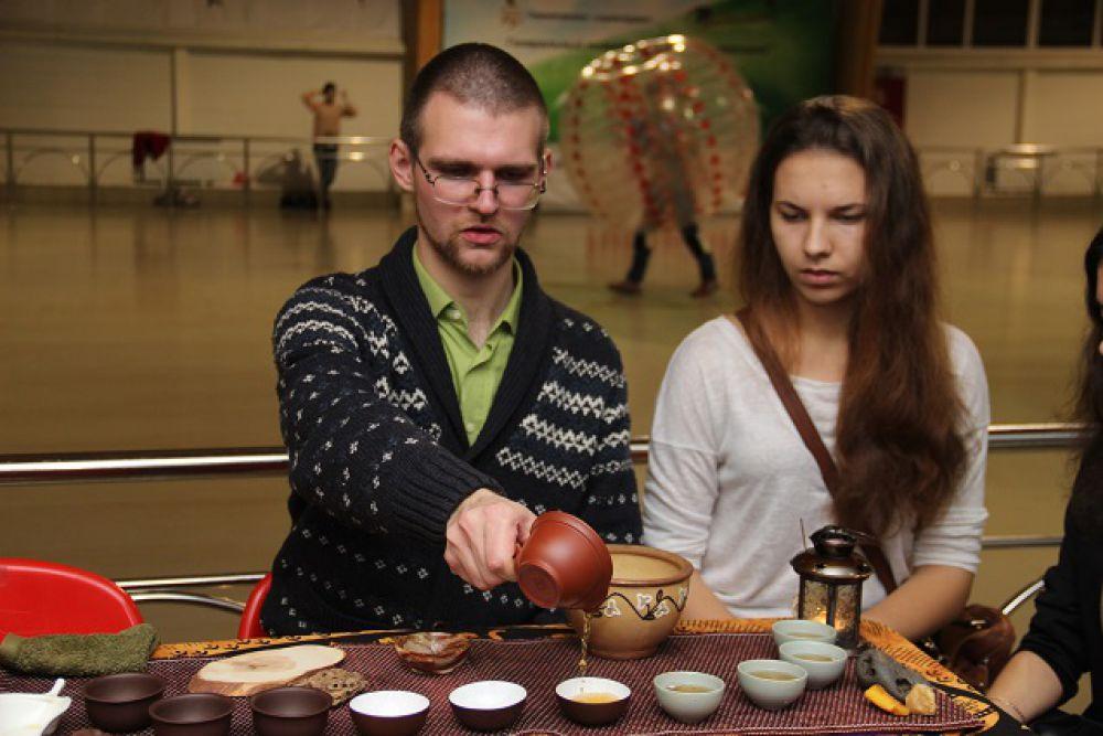 Чайная церемония в Олимпийском парке.