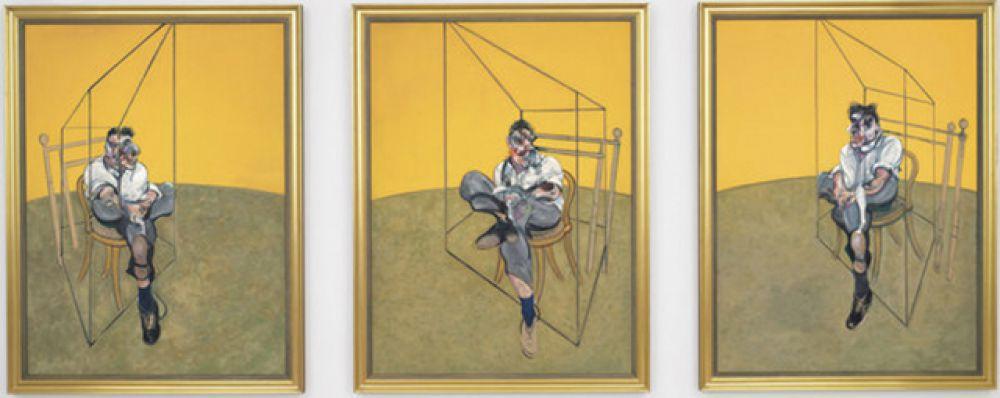 «Три наброска к портрету Люсьена Фрейда — триптих», Фрэнсис Бэкон. Год создания: 1969. Дата продажи: 12 ноября 2013 года. Цена 142,4 млн. долларов.