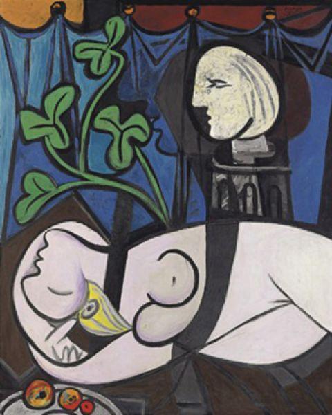 «Обнаженная, зеленые листья и бюст», Пабло Пикассо. Год создания: 1932. Дата продажи: 5 мая 2010 года. Цена 106,5 млн. долларов.